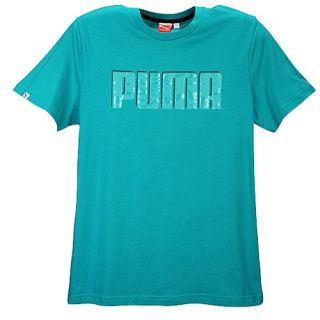 PUMA Camo Logo S/S T Shirt   Mens   Casual   Clothing   Blue Grass/Black