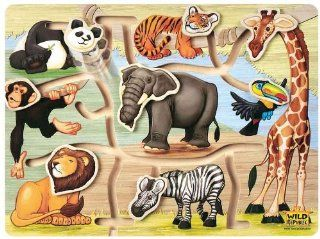 Wild Republic Puzzle Wood Slide Animal: Toys & Games
