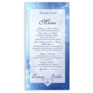 235 Wedding Menu Cards   Snowflake Window Glass   Wall Decor Stickers