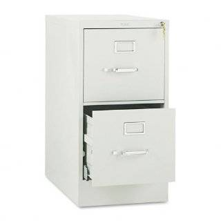 HON 512PQ 510 Series 29 by 25 Inch 2 Drawer Full Suspension Letter File, Light Gray   Vertical File Cabinets
