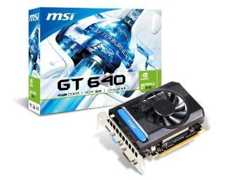 MSI NVIDIA GeForce GT 640, 4GB 128 Bit DDR3, HDMI, DL DVI D, VGA, PCI Express 3.0 Graphics Card  N640 4GD3: Computers & Accessories