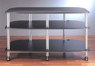 AR Series Mobile LCD TV Stand (Grey Silver w Cherry Shelf)   General Purpose Storage Rack Hardware