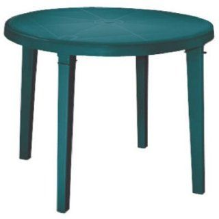 "Truva Resin Round Dining Table 42 Inch (Green) (29""H x 42""W x 42""D) : Patio Dining Tables : Patio, Lawn & Garden"