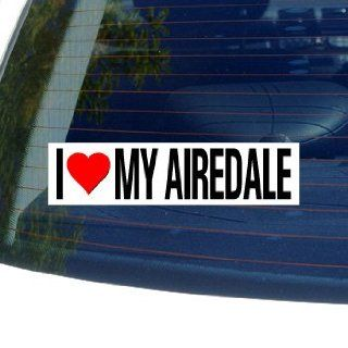 I Love Heart My AIREDALE   Dog Breed   Window Bumper Sticker: Automotive