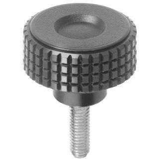 Knurled knob screw, made from thermoplast, outside diameter 32mm, external thread M5 x 20mm: Industrial & Scientific