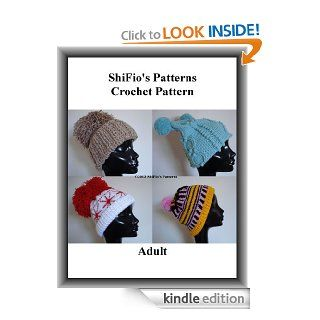 Crochet Pattern All About Pom poms Ladies Hats Beanies  #244 USA Terms eBook ShiFio's Patterns Kindle Store