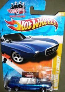 2011 HOT WHEELS NEW MODELS 14/50 BLUE CONVERTIBLE '63 FORD MUSTANG II CONCEPT (HOT WHEELS FOR REAL CARD) 14/244: Toys & Games