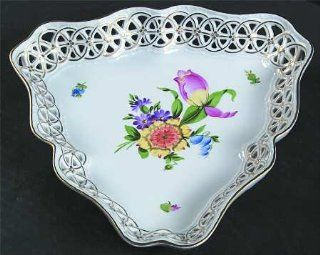 Herend Printemps (Bt) Triangular Open Weave Basket, Fine China Dinnerware: Kitchen & Dining