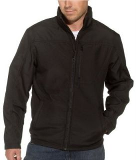 George & Martha Men's Montreal Fleece Jacket, Black, Small: Clothing