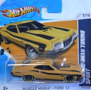 Hot Wheels Muscle Mania   Ford 12 (7/10) '72 Ford Gran Torino Sport (117/247) Short Card: Everything Else