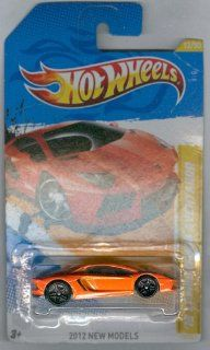 2012 Hot Wheels New Models '12 Lamborghini Aventador Orange #12/247: Toys & Games