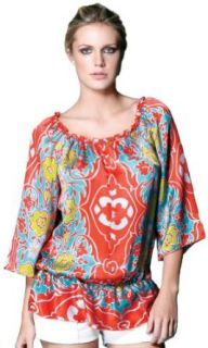 Hale Bob Women's Summer Fling Top Orange MD: Clothing