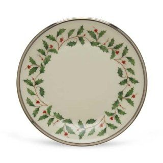 Lenox Holiday Platinum Ivory China Butter Plate: Kitchen & Dining
