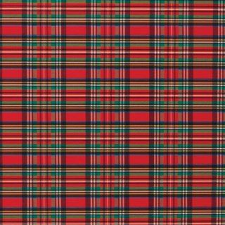 Jillson Roberts Christmas Gift Wrap, Tartan Plaid, 6 Roll Count: Office Products