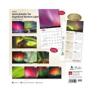 Aurora Borealis 18 Month Calendar The Magnificent Northern Lights (Multilingual Edition) Browntrout Publishers 9781465009098 Books