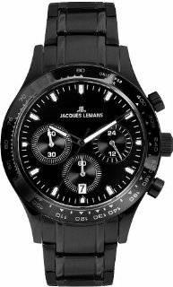 Jacques Lemans Men's 1 1631E Capri Classic Analog Chronograph Watch: Watches