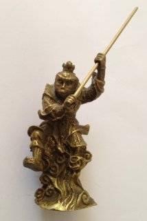 "Brass Monkey King Statue Figurine 4.5"""