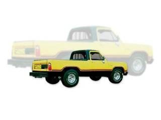 1977 1978 Dodge Macho Power Wagon Truck Decals & Stripes Kit   ORANGE / BLACK: Automotive