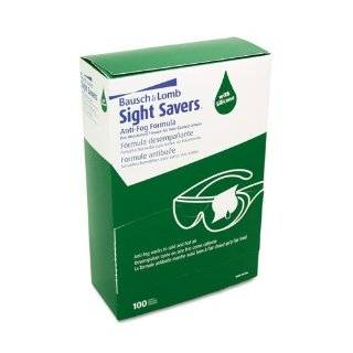 Bausch & Lomb 8576 Sight Savers Pre Moistened Anti Fog Tissues with Silicone, 100/Pack Health & Personal Care