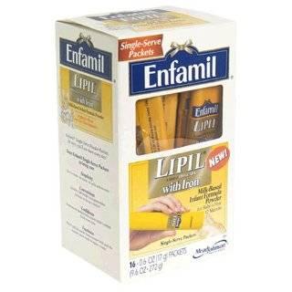 Enfamil Lipil Milk Based Infant Formula with Iron, Powder , 16   0.6 oz (17 g) packets [9.6 oz (272 g)]: Health & Personal Care