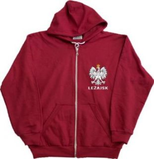 LEZAJSK, POLAND Zip Up Fleece Sweatshirt / Polish Hoody: Clothing