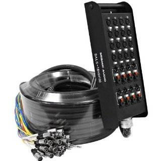 """Seismic Audio   SALS 16x8x100   16 Channel 100' Pro Stage XLR Snake Cable (XLR & 1/4"""" TRS Returns) for Recording, Stage, Studio use Musical Instruments"""