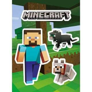 Minecraft Steve and Pets Sticker Pack   Prints