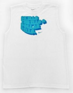 "Nike Boy's Muscle Shirt White ""Skills Thrills & Dollar Bills"" (XL) : Fashion T Shirts : Clothing"