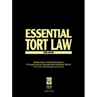 Tort Law (Essentials Series): Owen, Richard Owen, Nicholas Bourne: 9781859415924: Books