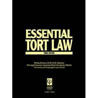 Tort Law (Essentials Series): Owen, Richard Owen, Nicholas Bourne: 9781859415924: Books