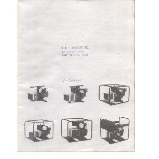 Original 1980's SML Industries Voltmaster Electric Generator Service Manual for V Series Generators