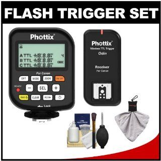 Phottix Odin Wireless TTL Flash Trigger Set with Cleaning Kit for Canon Rebel T1i, T2i, T3i, T3, EOS 60D, 7D, 5D, 1D, 1Ds & 1D X MARK II III IV Digital SLR Cameras : Camera And Camcorder Remote Controls : Camera & Photo