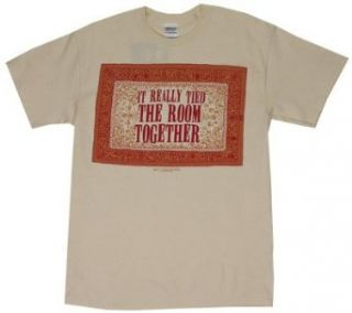 It Really Tied The Room Together   Big Lebowski T shirt Adult 2XL   Natural Clothing