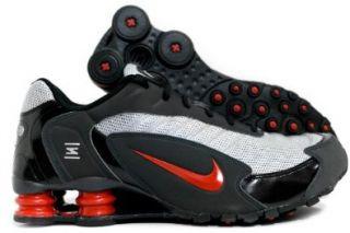 MENS NIKE SHOX INFERNO RUNNING SHOE (332082 081) (9 M, MTLLC SLVR/TM ORNG BLCK ANTHRC) Shoes