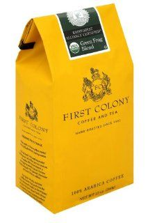 First Colony Organic Green Frog Blend Rainforest Alliance Certified Medium Roast Coffee, 12 Ounce Bags (Pack of 3): Grocery & Gourmet Food