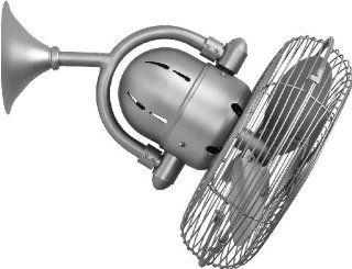 "Kaye 17"" Brushed Nickel Oscillating Wall Fan: Home Improvement"