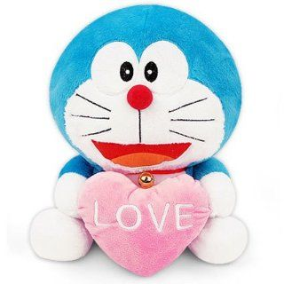 "Nwt Doraemon Plush with Love Heart 12"" Doll Toy Stuffed Animal for Valentine Day Great Gift for Special One Fast Shipping : Health And Personal Care : Baby"