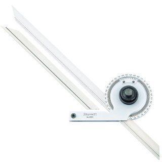 "Starrett C359FZ W/SLC Precision Universal Bevel Vernier Protractor, Through 360 Degree Graduations, 7"" And 12"" Blade Size Industrial Tools Protractors Industrial & Scientific"