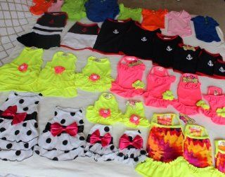 Lot 52 pcs. New Assorted Handmade Dog Clothes Pet Apparel   Sizes XXS to XXL