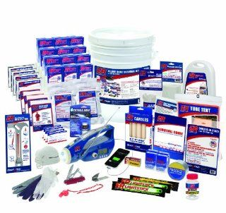 ER Emergency Ready 4 Person Ultimate Deluxe Survival Kit: Sports & Outdoors