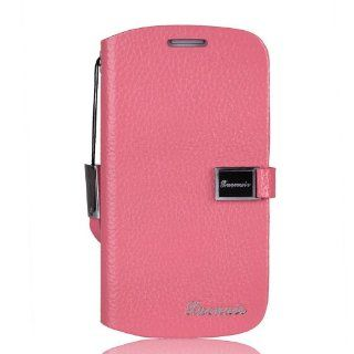 Maxcase King Series Genuine Leather Case Protector Case Cover Skin with String and Card Slot for Samsung Galaxy S3 i9300 Pink