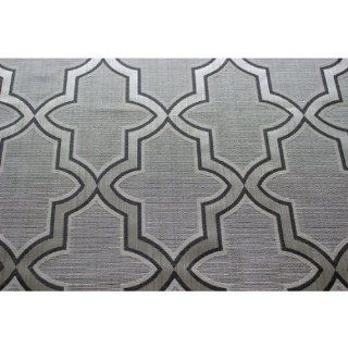 "46"" Wide Pearl Grey Trellis Pattern Curtain Fabric Upholstery Fabric Curtain Panels Drapery Fabric Window Treatment Fabric Modern Fabric By the Yard"