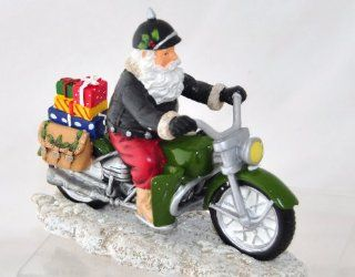 Full Throttle Christmas   from the REBEL WITHOUT A CLAUS COLLECTION Sculpture Figurine Motorcycle Christmas