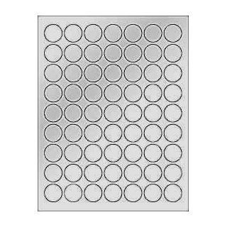 "(6 SHEETS) 378 1"" BLANK METALLIC SILVER ROUND CIRCLE STICKERS FOR LASER PRINTERS. Size 8 1/2""x11"" Standard Sheets Electronics"