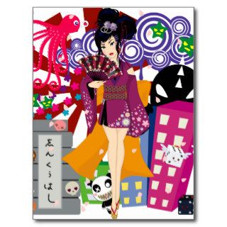 Ayaka in Harajuku Town Postcards