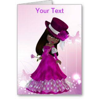 African American Princess Greeting Card