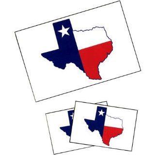 Texas State Shaped Flag Tattoos   Childrens Temporary Tattoos