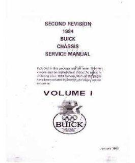 1984 Buick Century Electra Lesabre Shop Service Repair Manual Engine Drivetrain Automotive