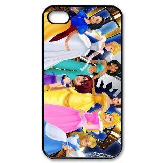 Disney Princesses Kingdom Hearts Snow White Cinderella Jasmine Belle Aurora Alice Kairi Photo Iphone 4,4s Case Plastic New Back Case: Cell Phones & Accessories