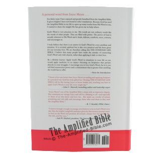 The Everyday Life Bible: The Power of God's Word for Everyday Living, Amplified Version: Joyce Meyer: 9780446578271: Books
